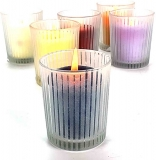 Svícen Yankee Candle Striped Glass