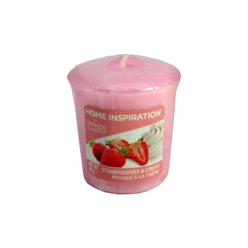Votivní svíčka Yankee Candle Strawberries & Cream 49g