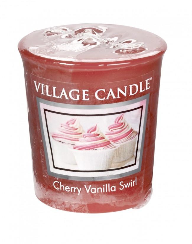 Votivní svíčka Village Candle Cherry Vanilla Swirl 57 g