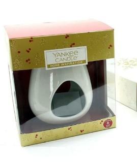 Aromalampa Yankee Candle keramická bílá + balení vosku Yankee Candle 75 g