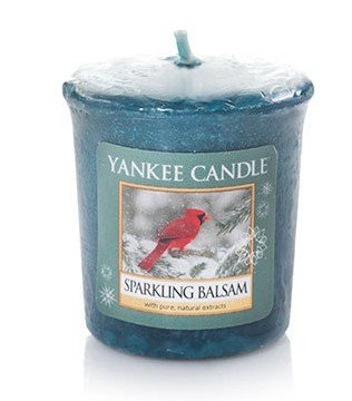 Votivní svíčka Yankee Candle Sparkling Balsam 49g