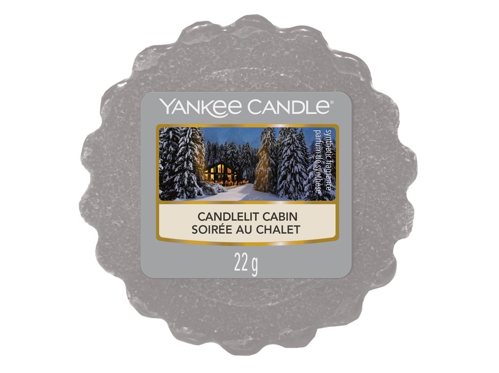 Vonný vosk Yankee Candle Candlelit Cabin 22g