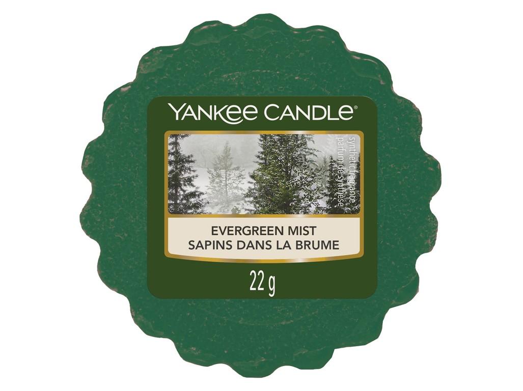 Vonný vosk Yankee Candle Evergreen Mist 22g