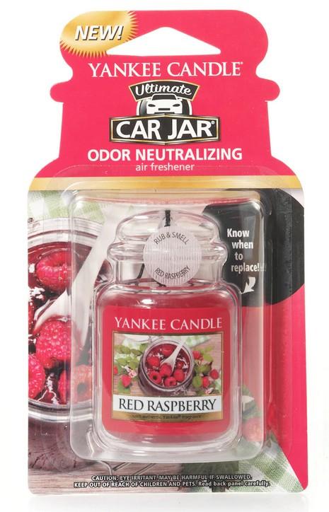 Yankee Candle Red Raspberry vůně do auta Luxusní visačka