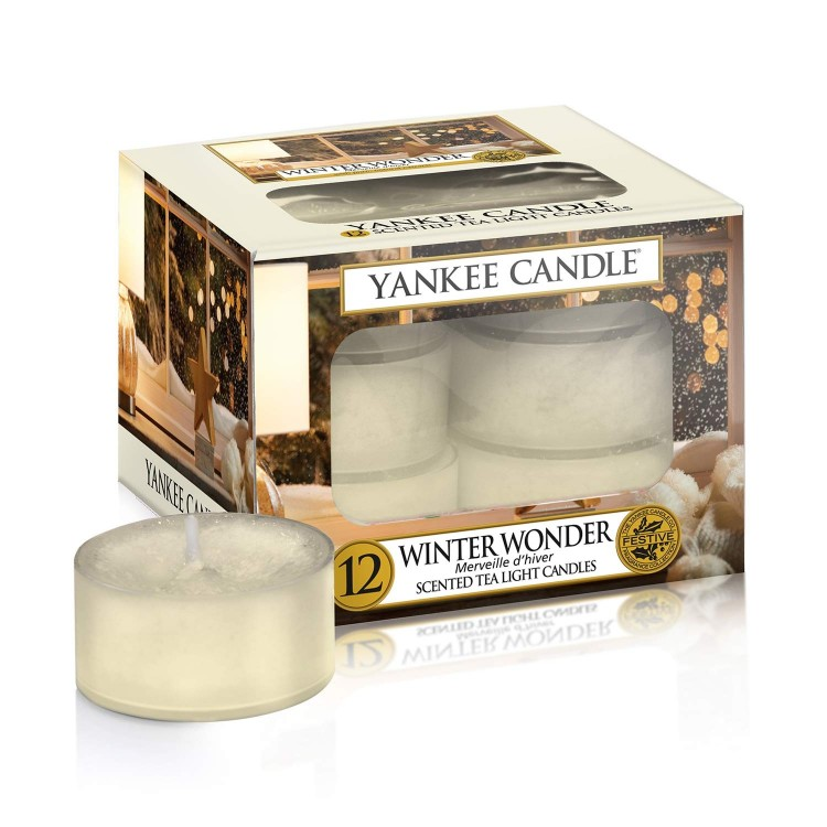 Čajové svíčky Yankee Candle Winter Wonder - 12 kusů