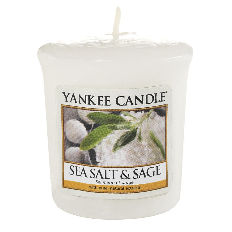 Votivní svíčka Yankee Candle Sea Salt & Sage 49g