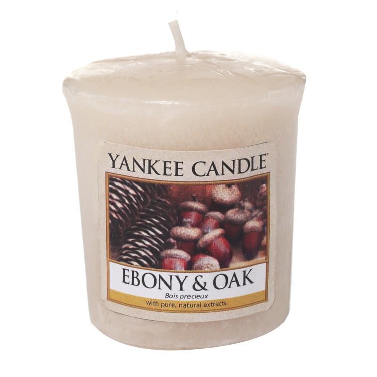 Votivní svíčka Yankee Candle Ebony & Oak 49 g