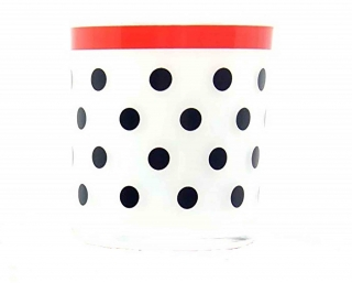 Svícen Yankee Candle Polka Dot Frosted Glass