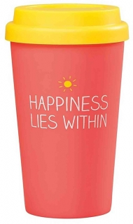 Happy Jackson Happiness Lies Within cestovní hrnek 410 ml
